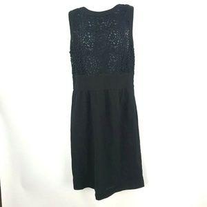 Exclusive VALENTINO Roma Black Virgin Wool Dress